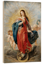 Wood print  Immaculate Conception - Peter Paul Rubens