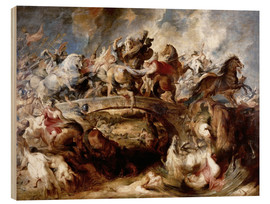 Wood print  Battle of the Amazons - Peter Paul Rubens