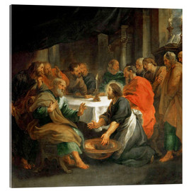 Acrylic print  The Washing of the Feet - Peter Paul Rubens