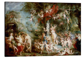 Aluminium print  The Feast of Venus - Peter Paul Rubens
