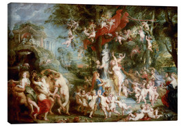 Canvas print  The Feast of Venus - Peter Paul Rubens