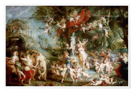 Premium poster  The Feast of Venus - Peter Paul Rubens