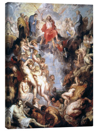Canvas print  The (large) Last Judgement - Peter Paul Rubens