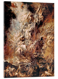 Acrylic print  The Descent into Hell of the Damned - Peter Paul Rubens