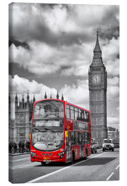Canvas print  Big Ben and Red Bus - Melanie Viola