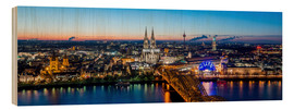Wood print  Birdseye view of Cologne - euregiophoto