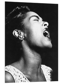 Foam board print  Billie Holiday