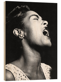 Wood print  Billie Holiday