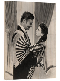 Wood print  Gone With The Wind, 1939