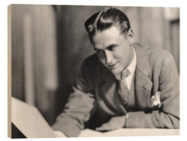 Wood print  F. Scott Fitzgerald