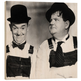 Wood print  Laurel & Hardy