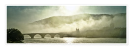 Premium poster  Heidelberg in fog with old bridge - Jan Christopher Becke