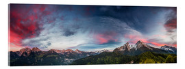 Acrylic print  Sunset over the Berchtesgaden - Moqui, Daniela Beyer