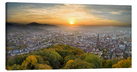Canvas print  Freiburg at sunset - Jan Christopher Becke