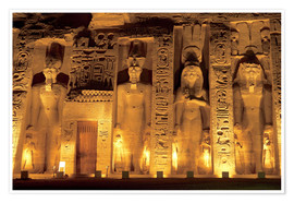 Premium poster  Temple of Abu Simbel - Miva Stock