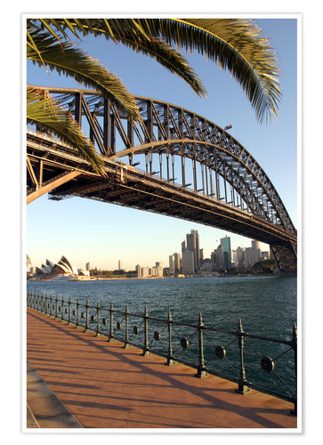Premium poster Sydney Harbor Bridge