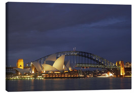 Canvas print  Sydney Opera and Harbor Bridge - David Wall