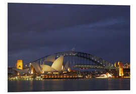 Foam board print  Sydney Opera and Harbor Bridge - David Wall