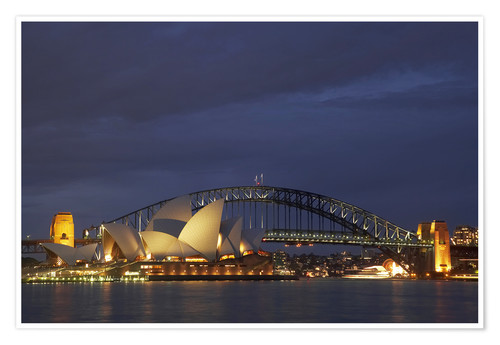 Poster Sydney Opera House and Harbour Bridge