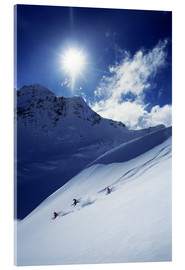 Acrylic print  Heli-skiing on the Aoraki - James Kay
