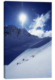 Canvas print  Heli-skiing on the Aoraki - James Kay
