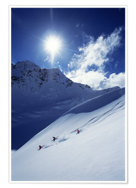Premium poster  Heli-skiing on the Aoraki - James Kay