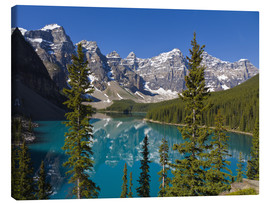 Canvas print  Lake in front of the Canadian Rockies - Paul Thompson