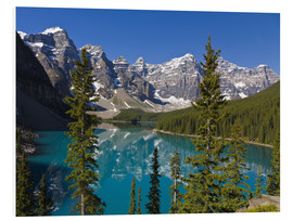 Foam board print  Lake in front of the Canadian Rockies - Paul Thompson