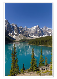Premium poster Moraine Lake in the mountain valley