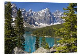 Acrylic glass  Moraine Lake, Canadian Rockies, Alberta, Canada - Paul Thompson