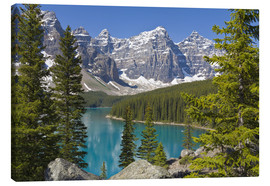 Canvas print  Moraine Lake, Canadian Rockies, Alberta, Canada - Paul Thompson