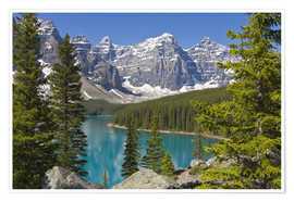 Premium poster  Moraine Lake, Canadian Rockies, Alberta, Canada - Paul Thompson