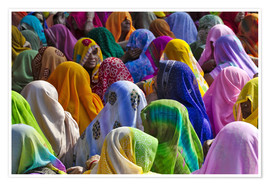Keren Su - Meeting of many Indian women in colorful saris
