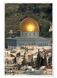 Premium poster Jerusalem and the Dome of the Rock