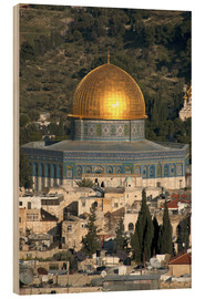 Wood print  Jerusalem and the Dome of the Rock - David Noyes