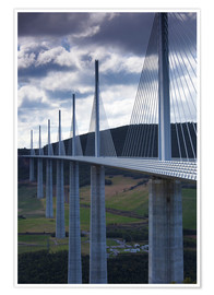 Premium poster Bridge of Millau