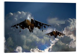 Acrylic print  Harrier Approach - airpowerart