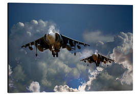 Aluminium print  Harrier Approach - airpowerart