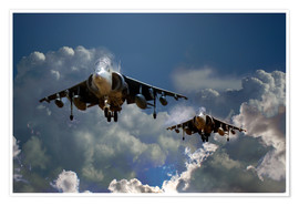 Premium poster Harrier Approach