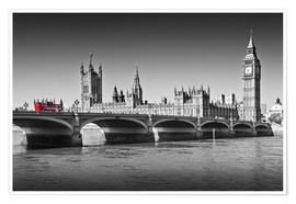 Premium poster Westminster Bridge and Bus