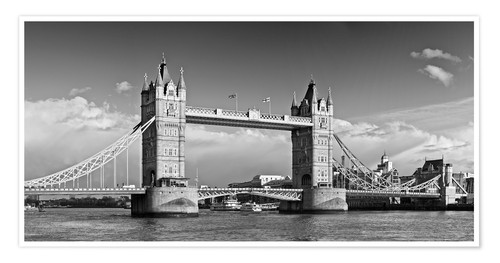 Premium poster Tower Bridge black and white
