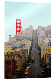 Acrylic glass  San Francisco and Golden Gate Bridgee - John Morris