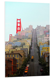 Foam board print  San Francisco and Golden Gate Bridgee - John Morris