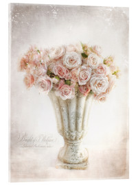 Acrylic glass  romantic roses - Lizzy Pe