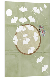 Foam board print  GINGKO TREE BY 5 CLOCK EARLY - Sabrina Alles Deins