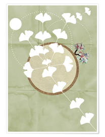 Poster  GINGKO TREE BY 5 CLOCK EARLY - Sabrina Alles Deins