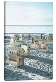Canvas print  beach chairs at the beach in Duhnen (North sea/Germany) - gn fotografie