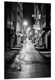 Alu-Dibond  a dusky street at night in Istanbul - Turkey - gn fotografie