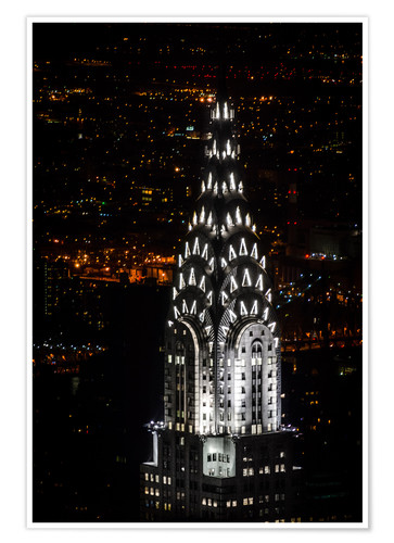 Premium poster Chrysler Building New York City by Night