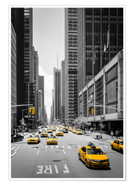 Premium poster  New York Yellow Cabs - Michael Haußmann